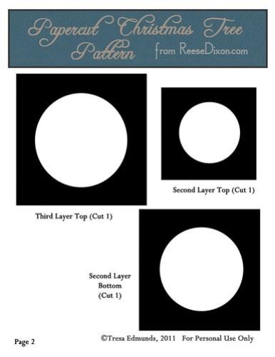 Papercut Nativity Tree Pattern Page 2
