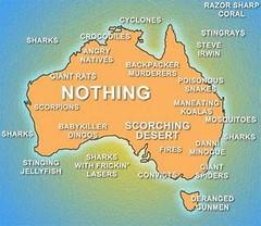 Dangerous: Map of Australia.