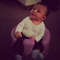 12 weeks in the bumbo... So big!