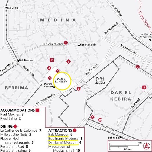 Mapa Meknes