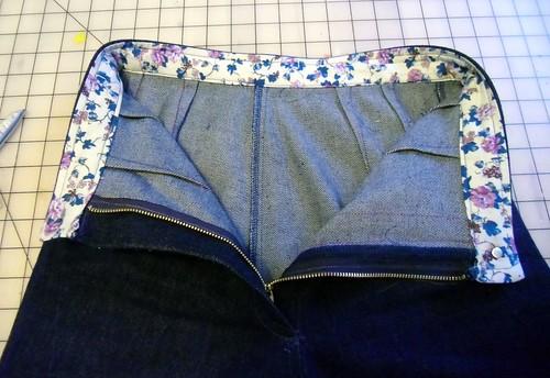 denim trousers - inside