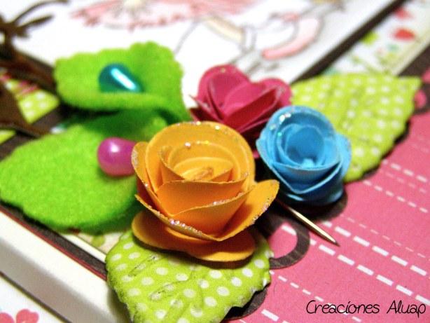 Rolled flowers - Rosas enrolladas