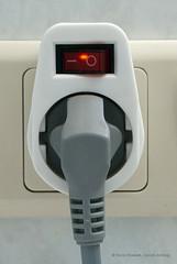 Schaltersteckdose zum Energiesparen