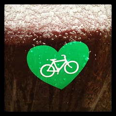 Bike Heart Sticker