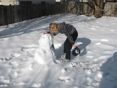 Keening for poor snowman