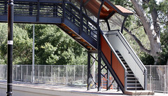 Stairs across the Tracks