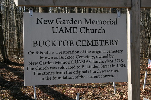 Sign for the Cemetery