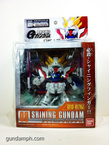 SD Archive Shining Gundam Unboxing Review (2)