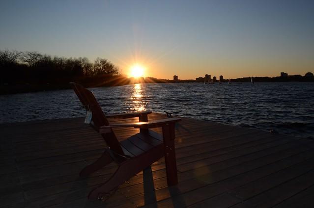 Chair + sunset