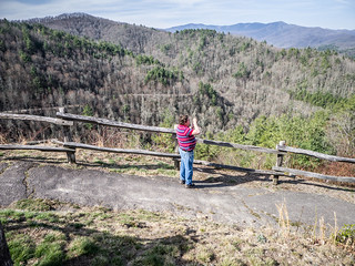 Ken at Cataloochee Valley Overlook