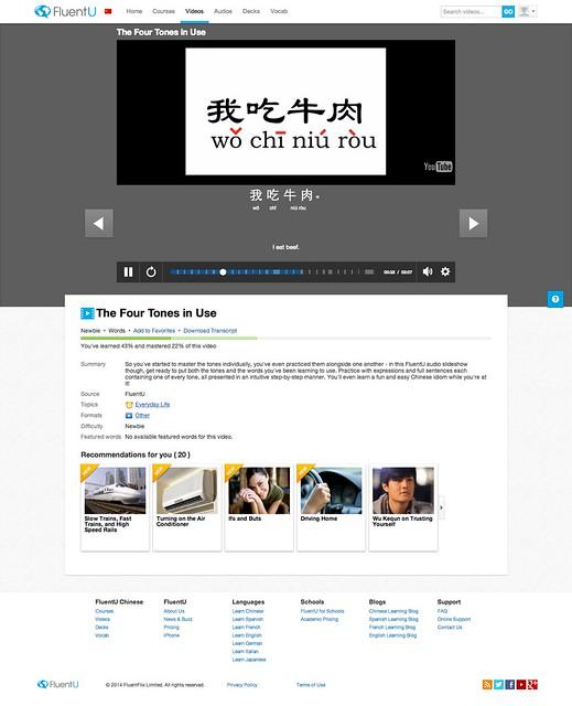 FluentU - Video - The Four Tones in Use