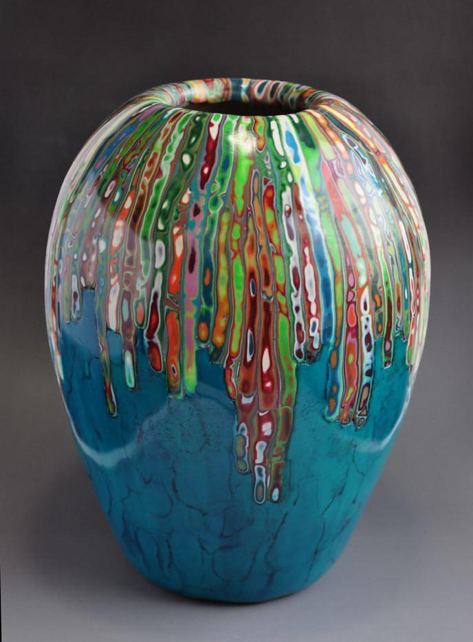 Polymer Clay Vase Georgia P Designs