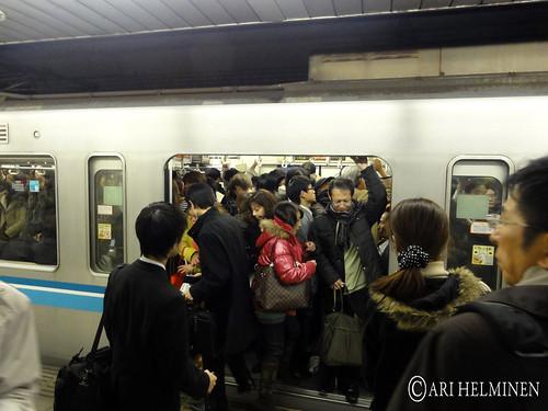 Tokyo Metro evening rush hour