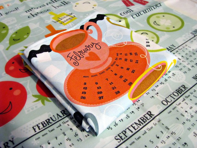 Spoonflower Calendar Tea Towel