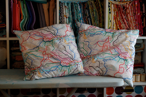 London tube map pillows