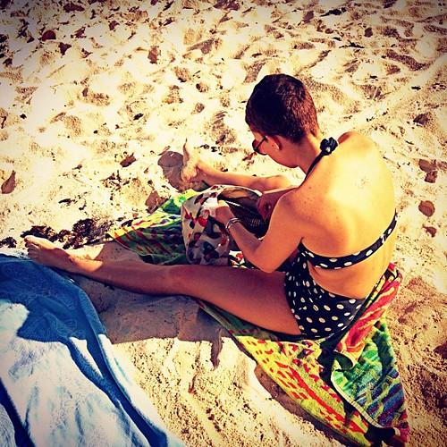 Beautiful #islands girl, @urbancasita ....#beach #caribbean #stt #virginislands #vacation #wife