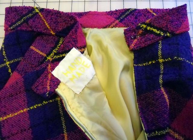 plaid circle skirt - lining!