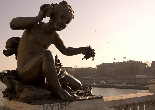 Cherub Over the Seine