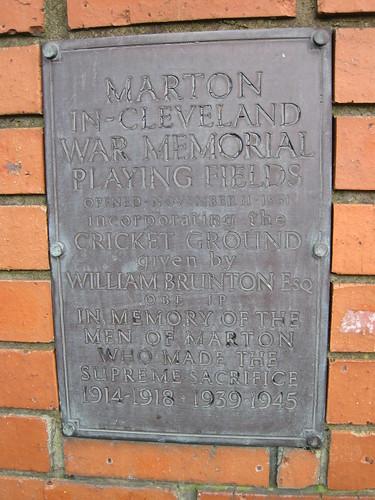 Marton War Memorial Playing Fields