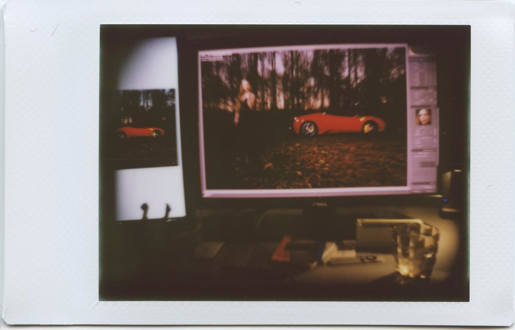 Lomo LC-A+ with the Instax back.
