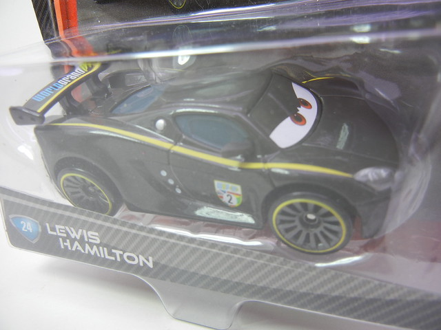 DISNEY CARS 2 LEWIS HAMILTON PLASTIC TIRES (2)