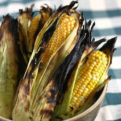 Roasted Corn on Table010