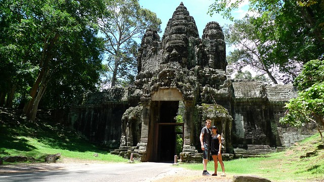 Angkor Thom city gate, Cambodia