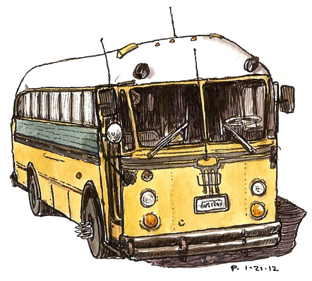 sketchcrawl 34 yellow bus