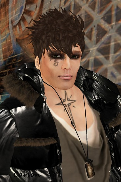 Nikita Fride - Jack or Jill Male Skin, KMADD  - Jessie Light Brown Hair & Moss Scandal Eyes, KOSH - Shane Necklace, Fe - Cross Tattoo