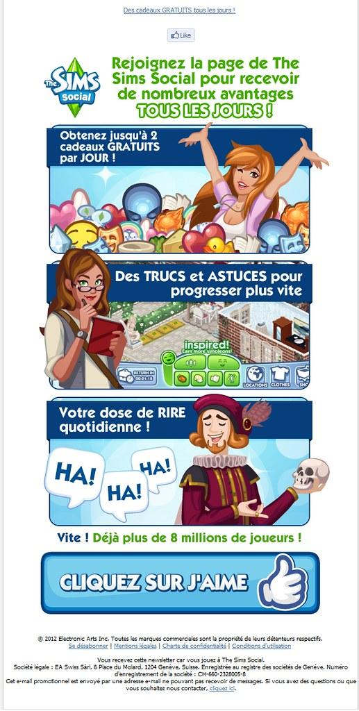 Newsletter Juillet The Sims Social