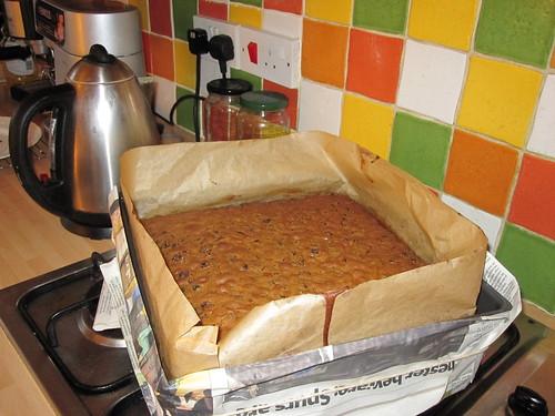 Baked wedding cake