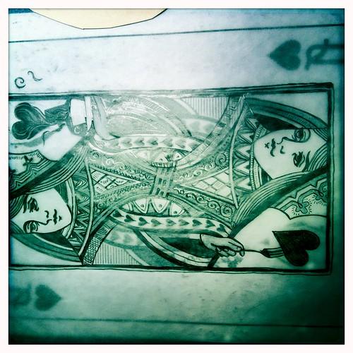 Queen of Hearts - Sketches