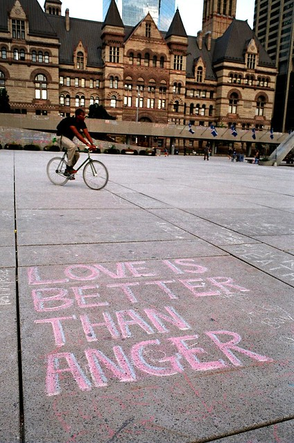 Love is Better than Anger