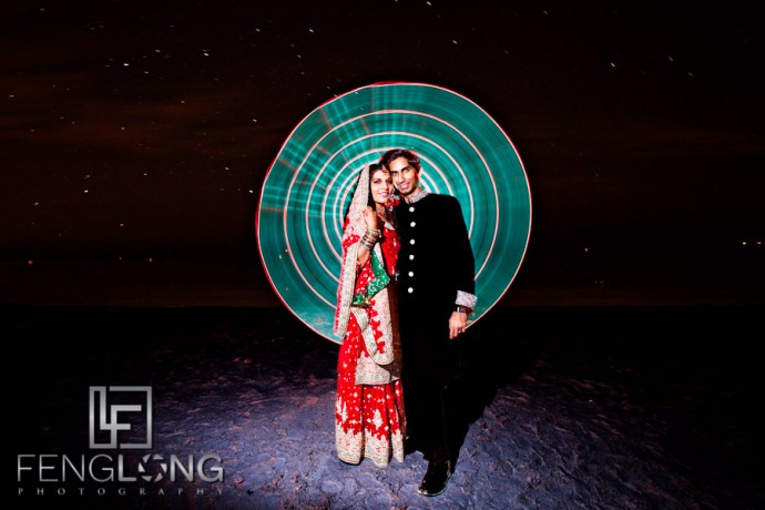 Indian Wedding Light Painting | Zainab & Farhan's Wedding Day 2 | Fort Myers Beach Photo Shoot | Ft. Myers Indian Wedding Photographer