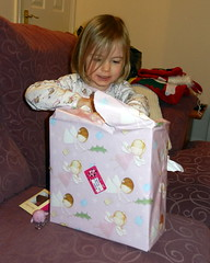 Amber, opening presents