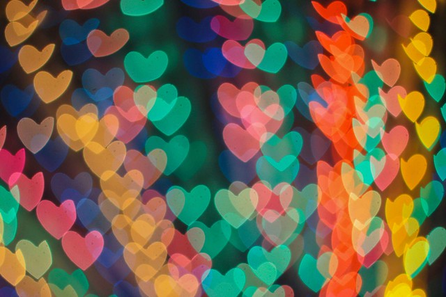 Multi-coloured hearts - Rosiemrogers on Flickr