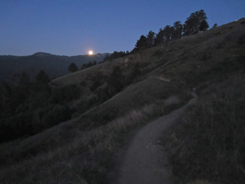 Moon rise over the Sun Trail