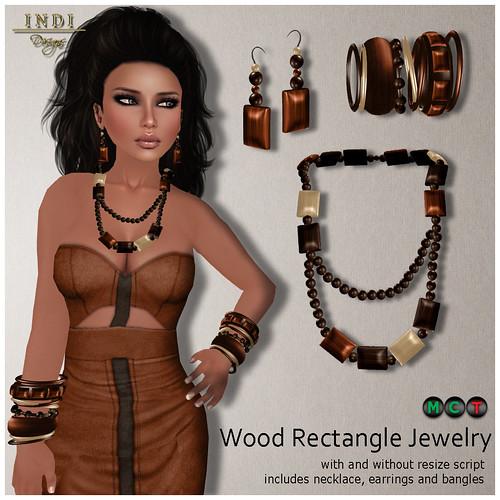 Wood Rectangle Jewelry