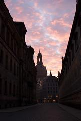 Frauenkirche bei Sonnenaufgang