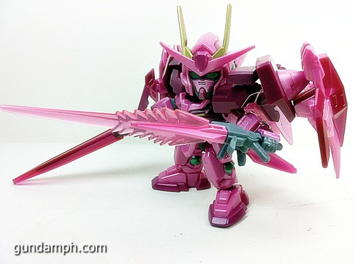 SD Gundam Online Capsule Fighter Trans Am 00 Raiser Rare Color Version Toy Figure Unboxing Review (50)