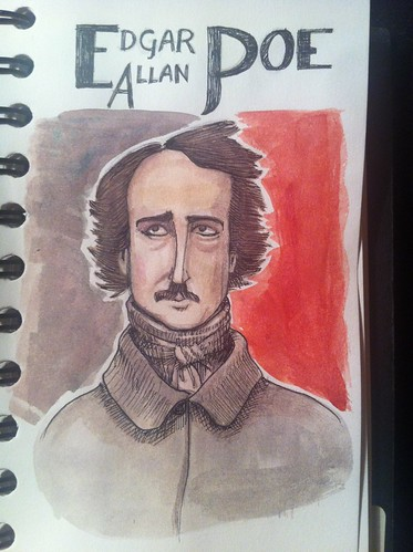 Day 28 - Edgar Allan Poe drawing
