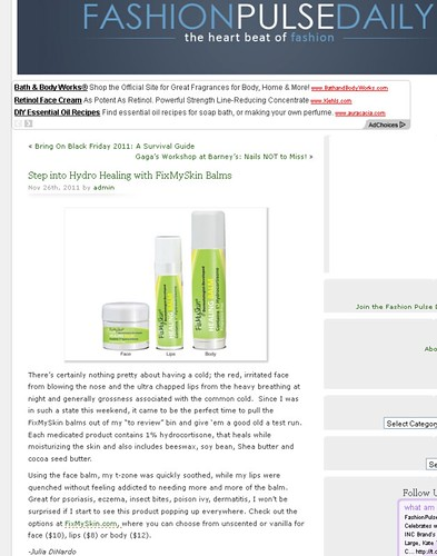 Fashion Pulse Daily - Step into Hydro Healing with FixMySkin Balms