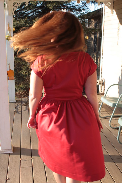 The Red Sateen Party Frock!