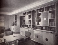 Great Mid-Century Modern built in bookshelves and cabinets ...