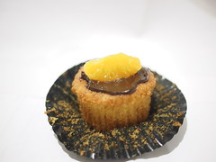 Mandarin orange + chocolate cupcake. Cupcake Engineer, Cluny Court
