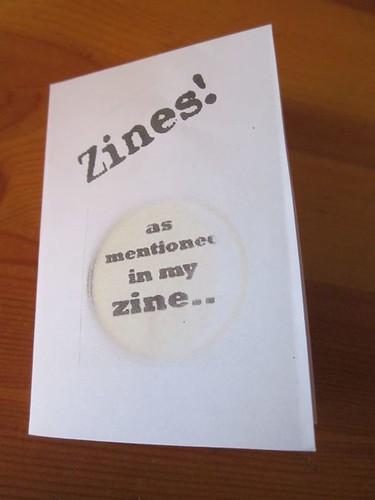 Mini Zine for presentation 7 December 2011