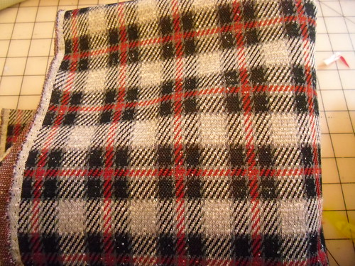 plaid polyester fabric
