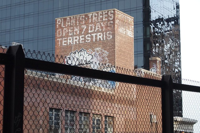 View of the now abandoned Terrestris Greenhouse on 60th Street in Manhattan