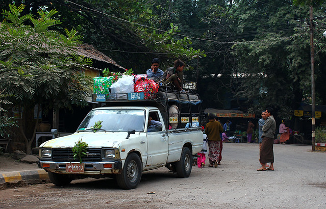 A typical pick up in Myanmar