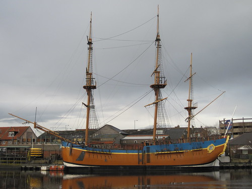Replica HM Bark Endeavour, Stockton